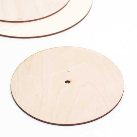 Подложка усиленная с отверстием для оси, диаметр 18см.