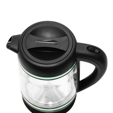 Чайник электрический Starwind (1,7 литра) 2200 Вт, LED подсветка, прозрачный/бирюзовый