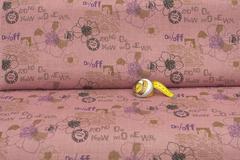Льняная интерьерная ткань рисунок ПИСЬМО