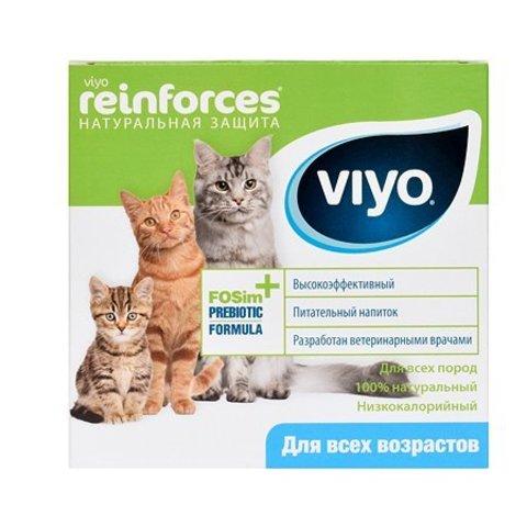 Пробиотический напиток Viyo Reinforces для кошек всех возрастов 7 пакетиков