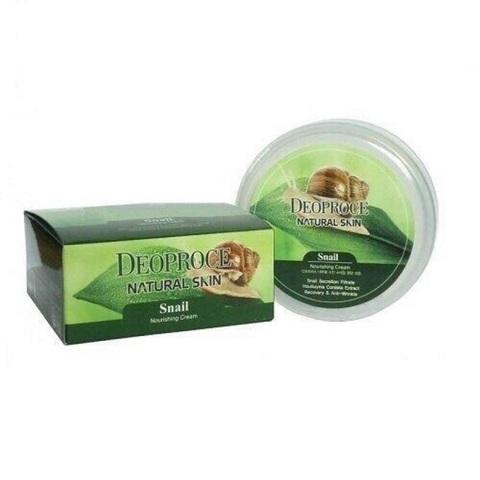 Deoproce Natural Skin Snail Nourishing Cream крем с улиточным муцином для лица и тела