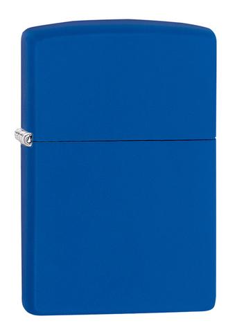 Зажигалка Zippo Classic с покрытием Royal Blue Matte, латунь/сталь, синяя, матовая, 36x12x56 мм123