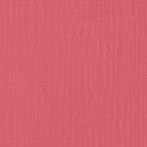 Текстурированный кардсток 30х30 American Crafts Textured Cardstock - Цвет Cherry