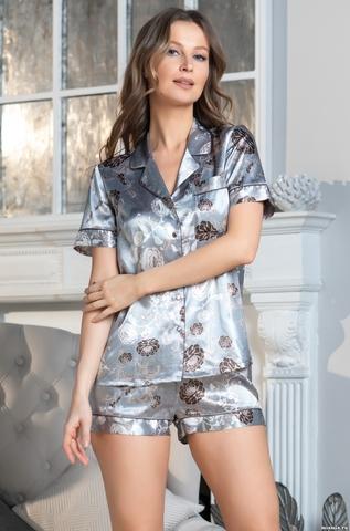 Комплект женский с шортами  Mia-Amore PARIS PIONS ПАРИЖ ПИОН 8995 серый