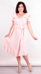 Веста. Красивое платье плюс сайз. Персик.