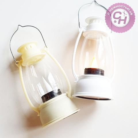 Фонарь декоративный светодиодный для игрушек, на батарейках,  6*13 см.