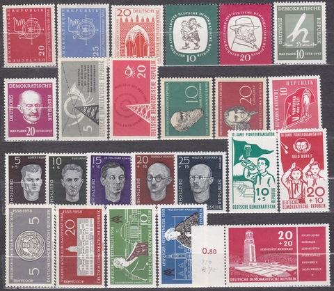 лот марок 1958 года все **MNH
