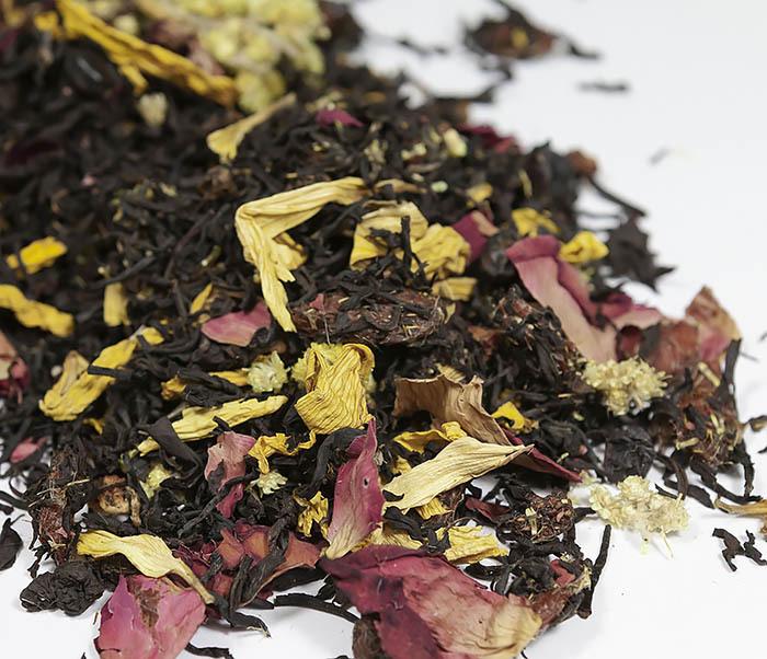 TEA-AR108 Черный ароматизированный чай «Вкус Ночи» (50 гр)