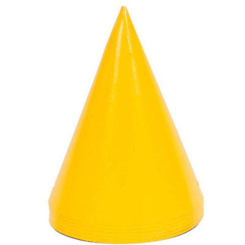 Колпаки желтые, 6 штук