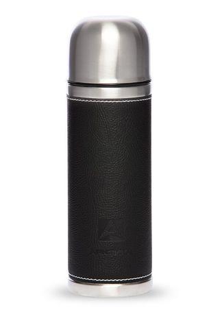 Термос Арктика (108-500 чёрный) 0,5 литра с узким горлом, черный, кожаная вставка