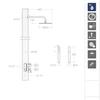 Встраиваемый смеситель для душа с душевым комплектом URBAN CHIC K2115021 на 2 выхода - фото №2