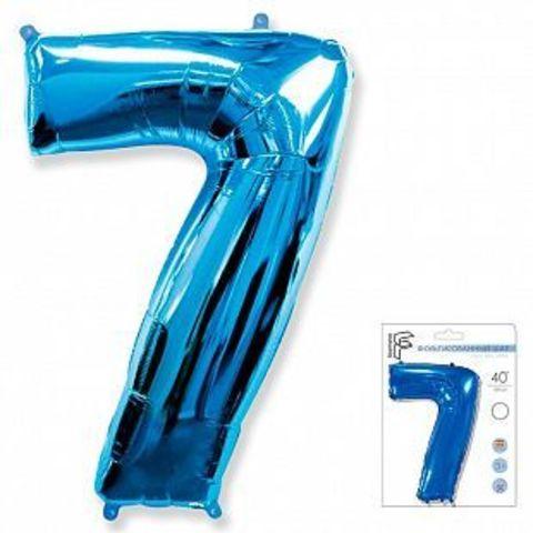 Цифра семь - синий