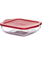 Форма для запекания жаропрочная стеклянная квадратная 3,2 литра Borcam 59024 лоток с крышкой квадратный 28х28х6 см коробка