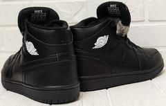 Мужские зимние кроссовки кеды найк Nike Air Jordan 1 Retro High Winter BV3802-945 All Black