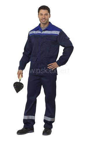 Костюм Профи 1 куртка, бр. т.синий/василек,  пл.210гр/м2
