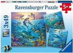 Puzzle Tierwelt des Ozeans 3x49 pcs