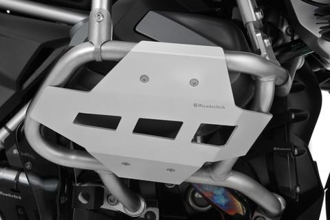 Защита клапанных крышек для ориг. дуг двигателя BMW R 1250 GSA, серебристая