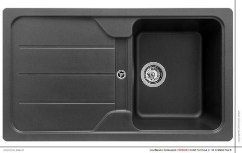 Мойка кухонная TEKA Simpla 45B-TG Чёрный металлик