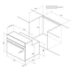 Встраиваемый духовой шкаф Kuppersberg SR 663 W - схема