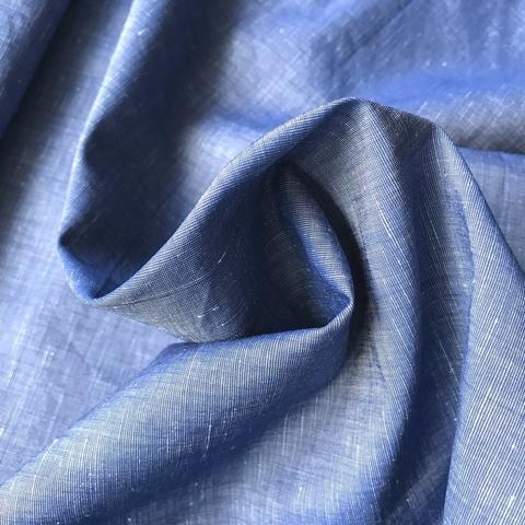 Ткань хлопок сорочечный джинсовый цвет 2070