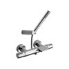 Смеситель термостатический для ванны с каскадным изливом и душевым комплектом TZAR 343901DNC никель - фото №1
