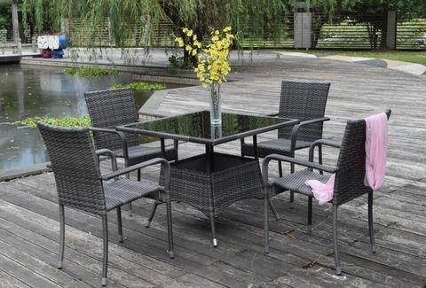 Комплект обеденный (стол + 4 кресла), LUC-76