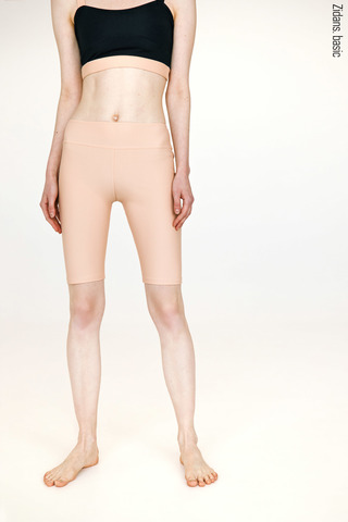 Knee length shorts stretch basic | beige