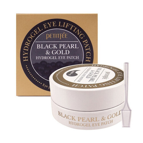 Petitfee Патчи гидрогелевые для глаз - Black pearl & gold hydrogel eye-spot patch, 60шт