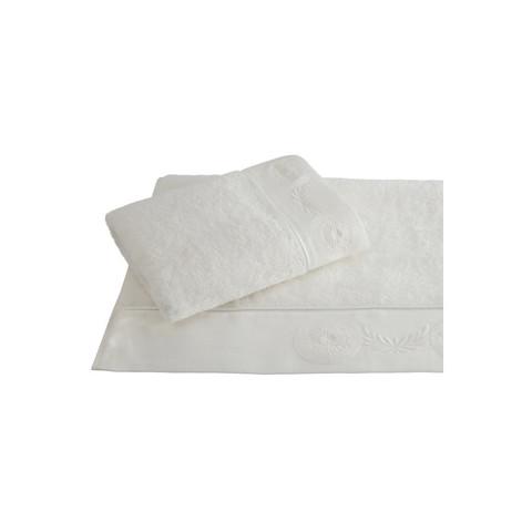 QUEEN КВИН кремовое полотенце махровое с вышивкой Soft Cotton (Турция)