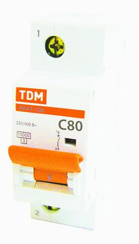 Авт. выкл. ВА47-100 1Р 80А 10кА х-ка D TDM