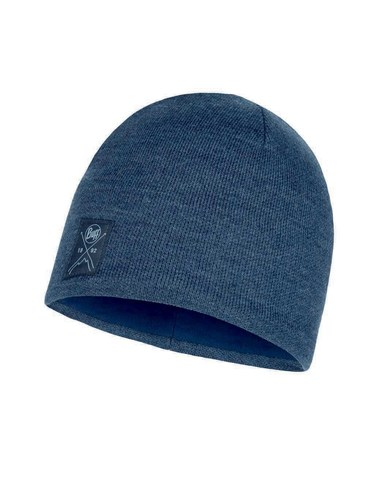 Шапка вязаная с флисом Buff Hat Knitted Polar Solid Navy фото 1