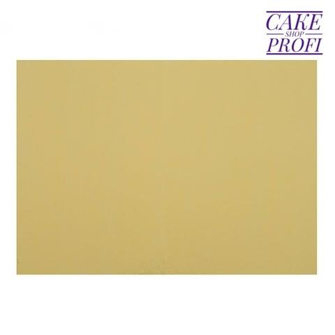 Подложка для торта 3,2мм (золото/белая) 30х22см.