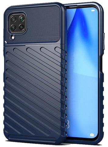 Чехол синего цвета для Huawei P40 Lite с объемным текстурным рисунком, серии Onyx от Caseport