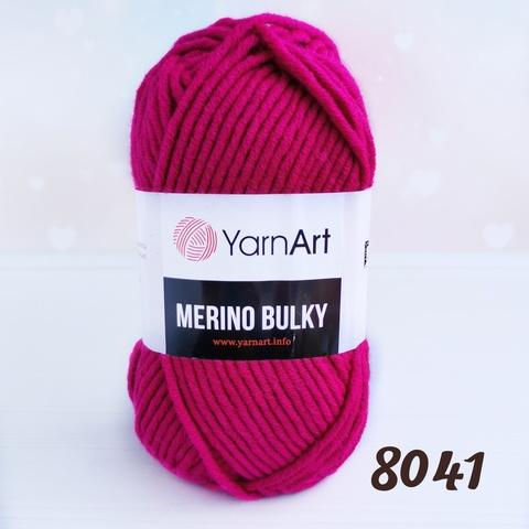 YARNART MERINO BULKY 8041, Малиновый