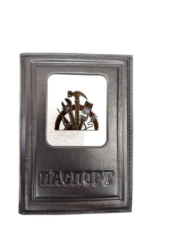 Обложка на паспорт | Строителю| Чёрный