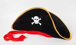 Шляпа Пиратская с красной лентой