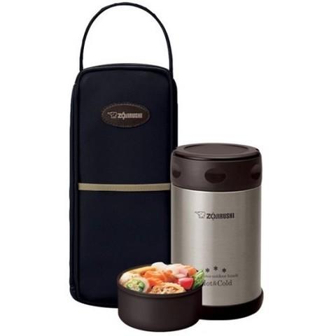 Термос для еды Zojirushi SW-EXE (0,5 литра), черный с чехлом