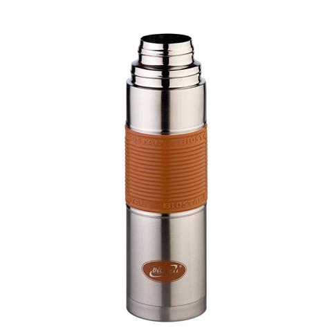 Термос Biostal Flër (1 литр) с силиконовой вставкой, мокко