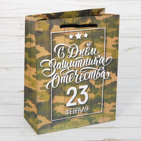 Пакет «С днём Защитника Отечества!», 23×27×8 см