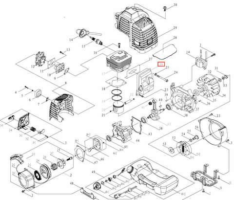 Глушитель в сборе для лодочного мотора T3,5 Sea-PRO