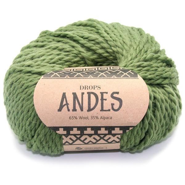 Пряжа Drops Andes 7820 оливковый