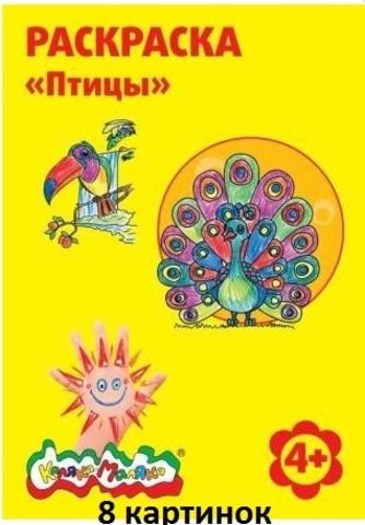 Раскраска РКМ08-ПТ Каляка-Маляка Птицы А4