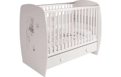 Кровать детская Polini kids French 710, Amis, с ящиком, белый