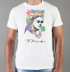 Футболка с принтом Фрида Кало (Frida Kahlo) белая 0011
