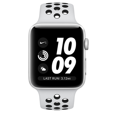 Watch S3 Nike+ Cellular 38mm Silver Al/Black Nike Sport Band