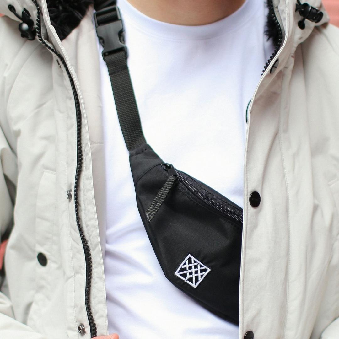 Поясная сумка Oxxxyshop чёрная