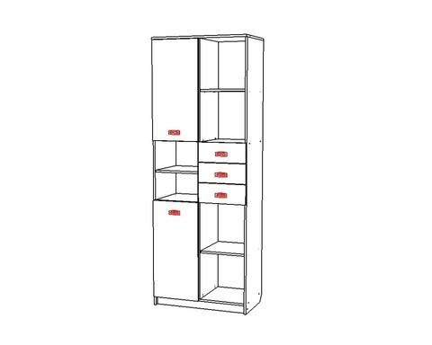 Шкаф КВИНС-3 /800*2200*453/ левый