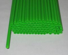 Трубочки полимерные для шаров, флагштоков и сахарной ваты Зеленые (100 шт)