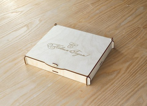 25 уникальных снежинок ДекорКоми из дерева с коробкой
