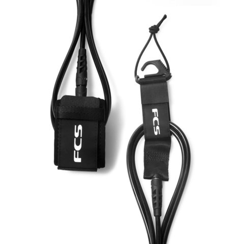 Лиш FCS 9' Regular Ankle Essential Leash Black